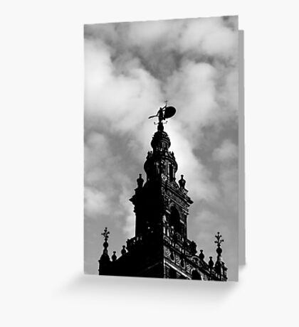Flying into the clouds Greeting Card