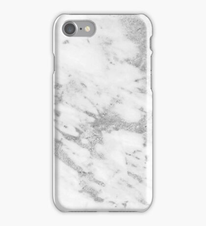 Marble - Silver and White Marble Pattern iPhone Case/Skin