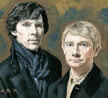 Sherlock & Watson by Mariana Po
