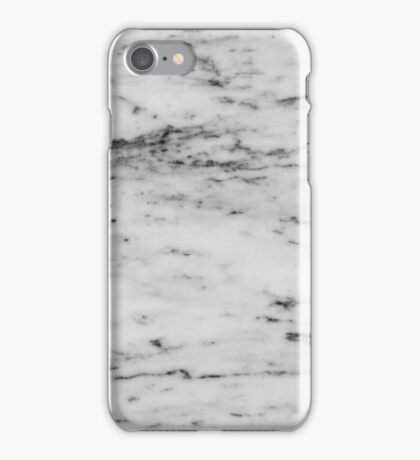 Marble - Black and White Marble Pattern iPhone Case/Skin