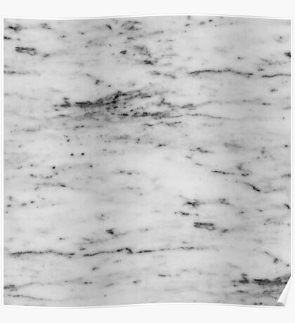 Marble - Black and White Marble Pattern Poster