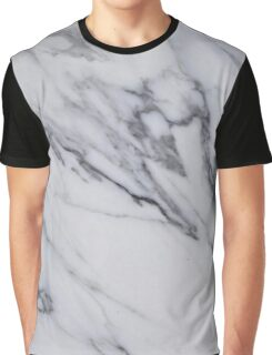 Marble - Black and White Gray Swirled Marble Design Graphic T-Shirt