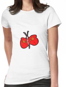 cartoon butterfly Womens Fitted T-Shirt