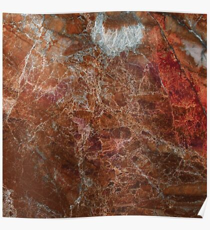Marble - The Flames Red Marble Texture Poster