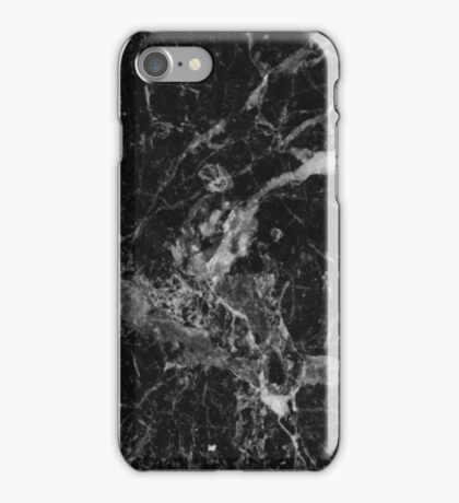 Black and White Marble Pattern iPhone Case/Skin