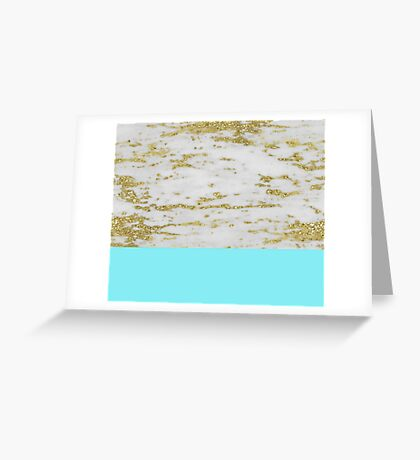 Faraldi gold marble and New York turquoise Greeting Card