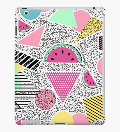 Modern geometric pattern Memphis patterns inspired iPad Case/Skin