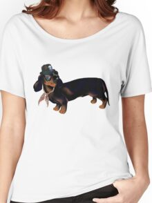 Fancy Dachshund Dachshund Shirt Funny Women's Relaxed Fit T-Shirt