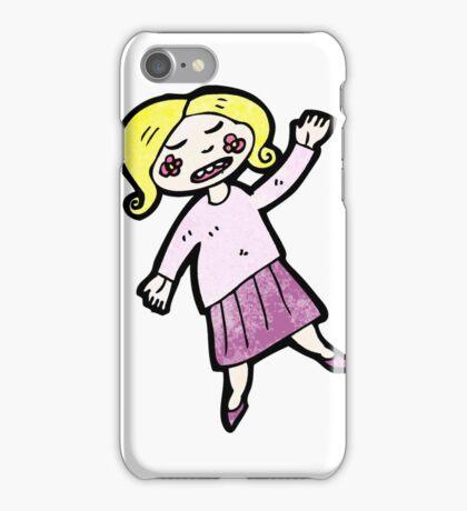cartoon blond girl iPhone Case/Skin