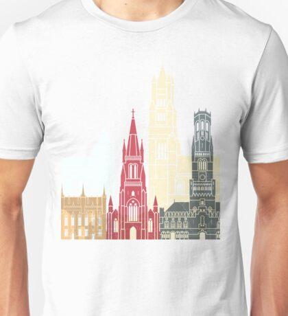 Bruges skyline poster Unisex T-Shirt