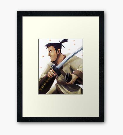 Samurai Jack Tribute Framed Print