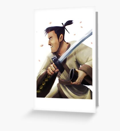 Samurai Jack Tribute Greeting Card