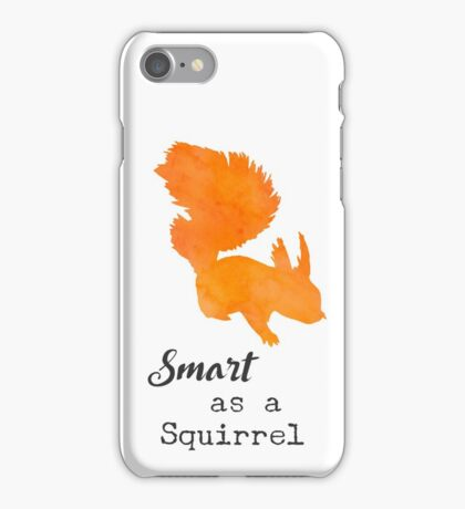Smart as a Squirrel by Woodland Doodles iPhone Case/Skin