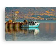 Fishing Boat, Cambellton, New Brunswick Canvas Print