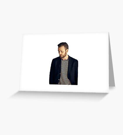 Chris Evans Greeting Card