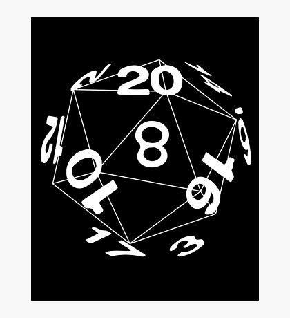Tabletop role playing games magic dice art Photographic Print