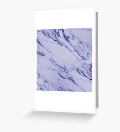 Swirly Blue Marble Greeting Card