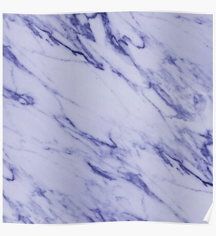 Swirly Blue Marble Poster