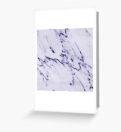 Deep Blue Streaked Marble Greeting Card