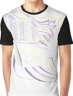 Abstract Battle Girl Graphic T-Shirt