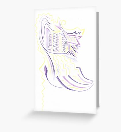 Abstract Battle Girl Greeting Card