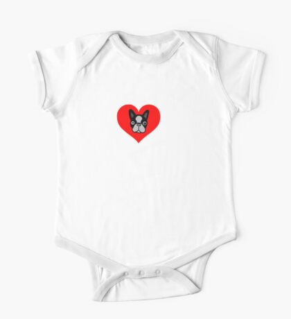I Love My Boston Terrier One Piece - Short Sleeve
