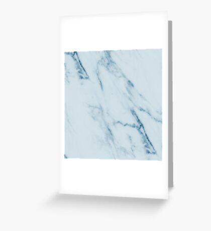Teal Swirl Marble Greeting Card
