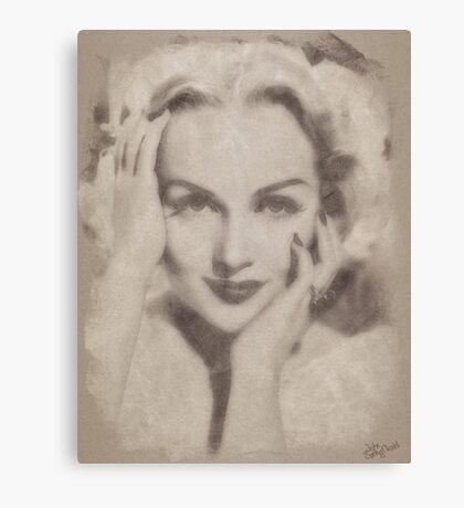 Carole Lombard, Vintage Hollywood Actress Canvas Print