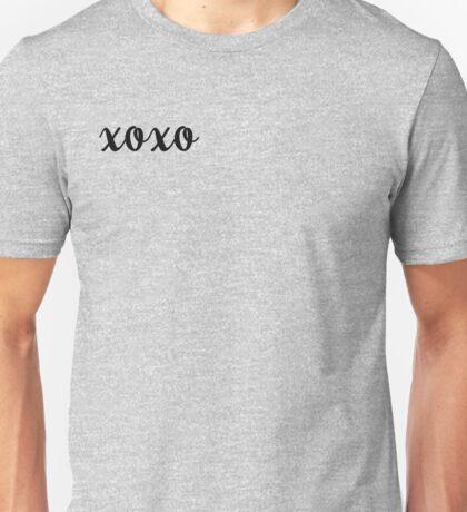 XOXO Kisses and Hugs stickers Unisex T-Shirt