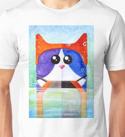 Cat in swimming pool Unisex T-Shirt