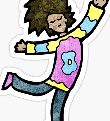cartoon dancing man Sticker