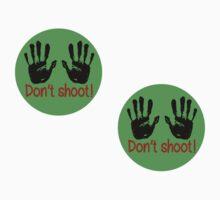 Don't shoot: 2 stickers by Rhona Mahony