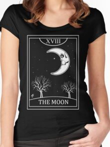 The Moon Tarot Women's Fitted Scoop T-Shirt