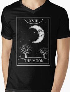 The Moon Tarot Mens V-Neck T-Shirt