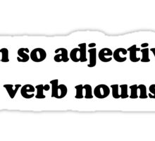 Adjective Verb Nouns Sticker