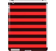 Red and Black Banded Design  iPad Case/Skin