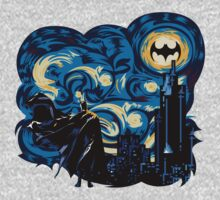 Dark Blue Starry Knight Abstract Kids Clothes