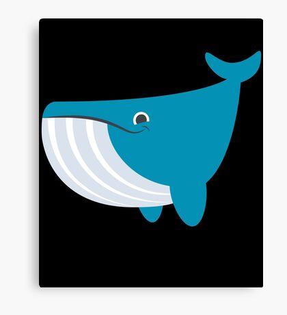 Cute Happy Whale Graphic Design Canvas Print