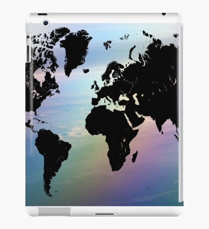 Rainbow Ocean World Map iPad Case/Skin