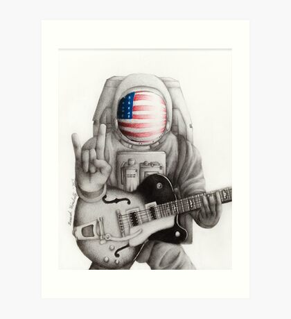 Rock n Roll Astronaut Art Print