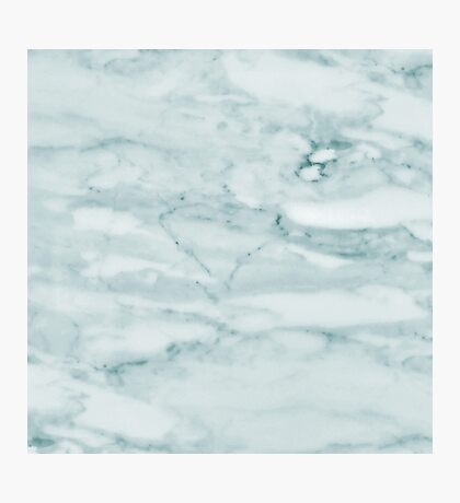 Pale Teal Sea Green Marble Photographic Print