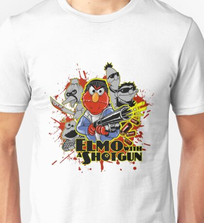 Elmo With Shotgun Unisex T-Shirt