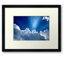 Beautiful Clouds and Blue Sky Framed Print