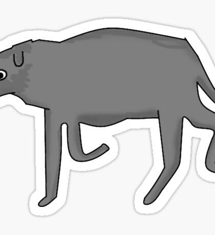 World's Fattest Italian Greyhound Sticker