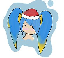 Christmas chibi sona by FluffyKami