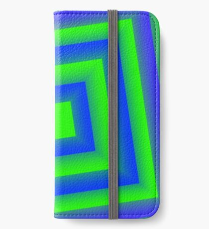 Green Abstract cubes iPhone Wallet/Case/Skin