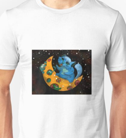 Little Tom Looking for Mice on Cheese Moon Unisex T-Shirt