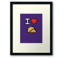 I Heart Tacos Framed Print