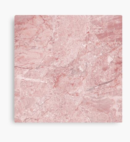 Marble Texture - Pretty in Pink Marble Pattern Canvas Print