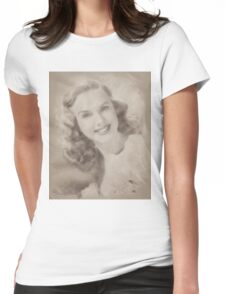 Deanna Durbin, Vintage Hollywood Actr Womens Fitted T-Shirt